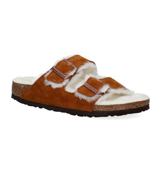 Birkenstock Arizona Fell Cognac Slippers