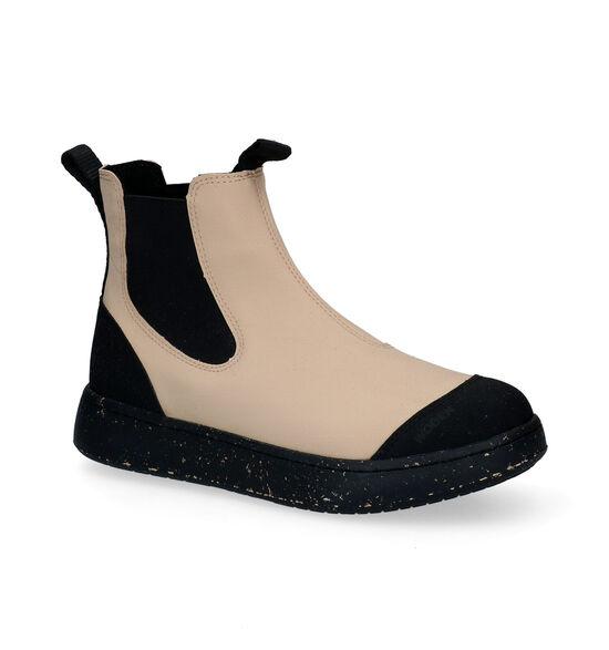 Woden Magda Rubber Chelsea Boots en Beige