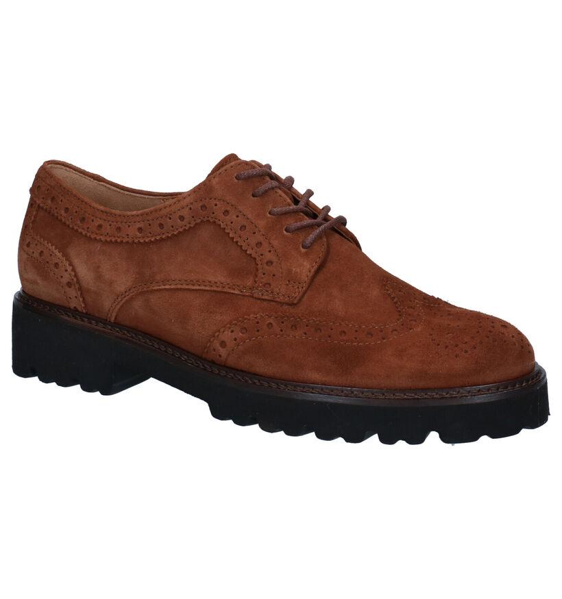 Gabor Best Fitting Chaussures à Lacets en Cognac en nubuck (283537)