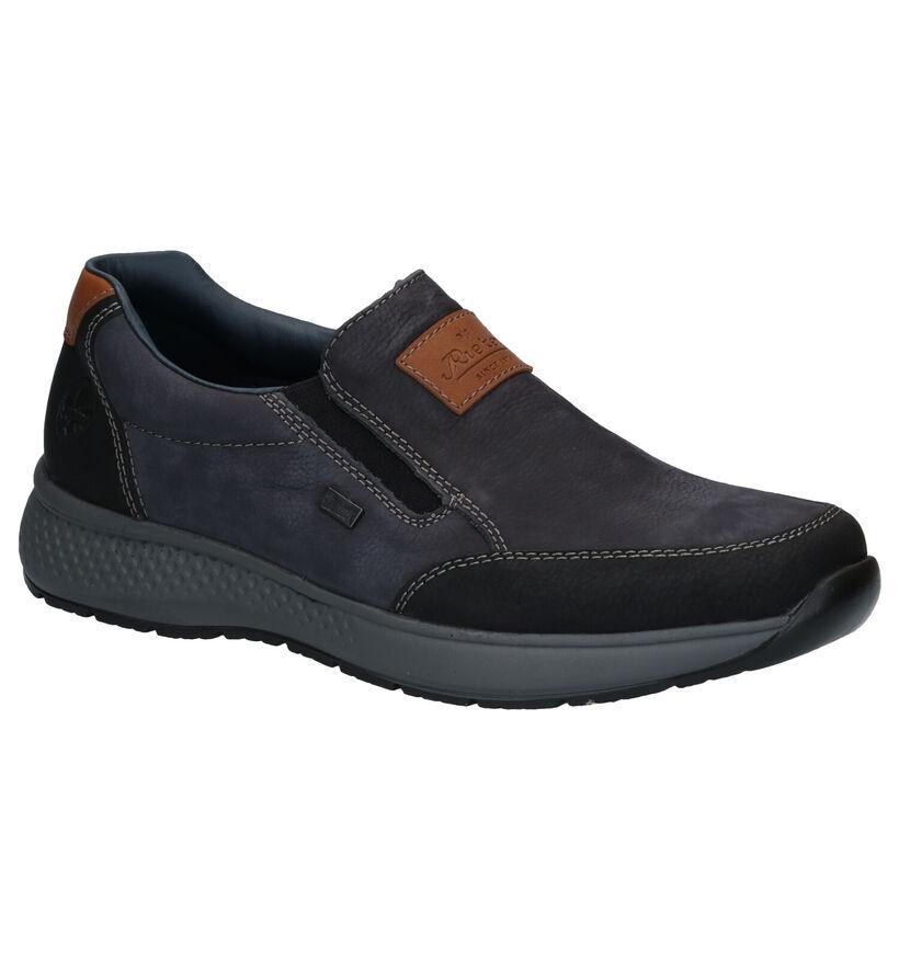 Rieker Chaussures slip-on en Bleu foncé en nubuck (281841)