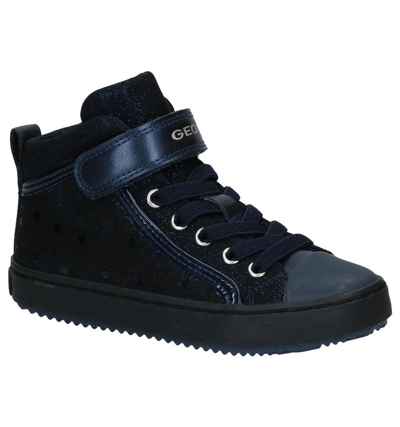 Geox Chaussures hautes en Bleu foncé en simili cuir (278291)