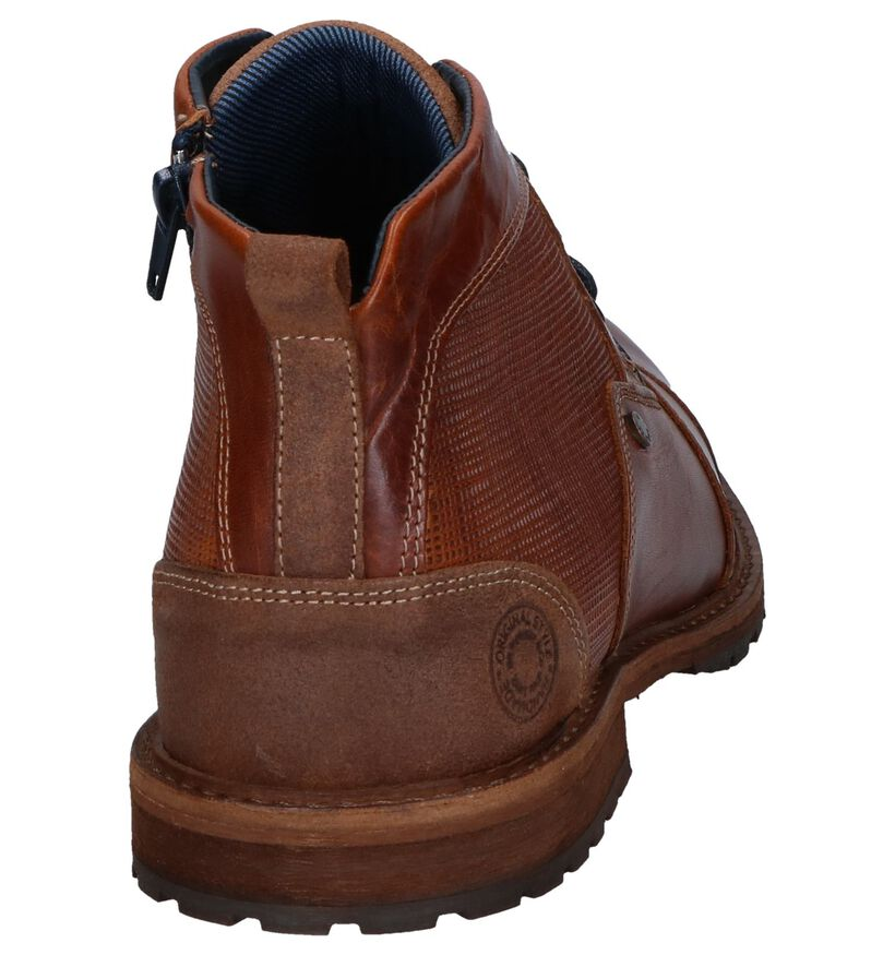 Bullboxer Chaussures hautes en Cognac en cuir (252793)