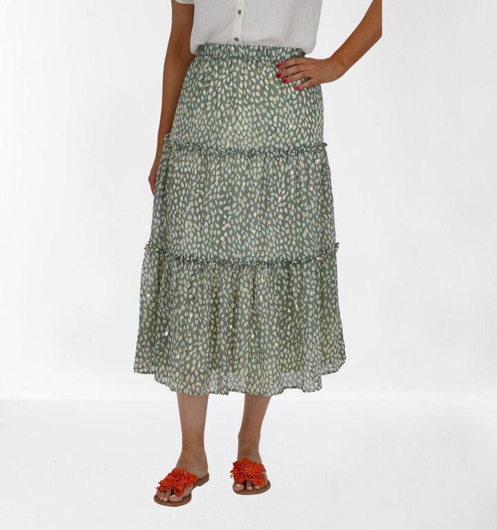 Vero Moda Jupe longue en Vert kaki