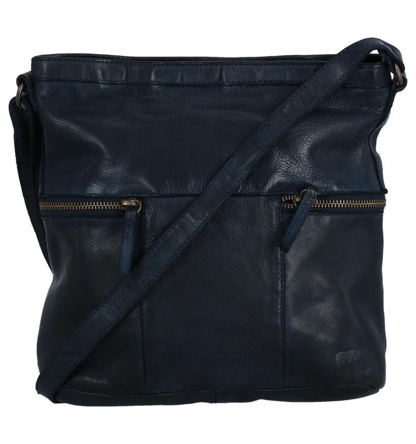 Bear Design Blauwe Crossbody Tas in leer (274706)