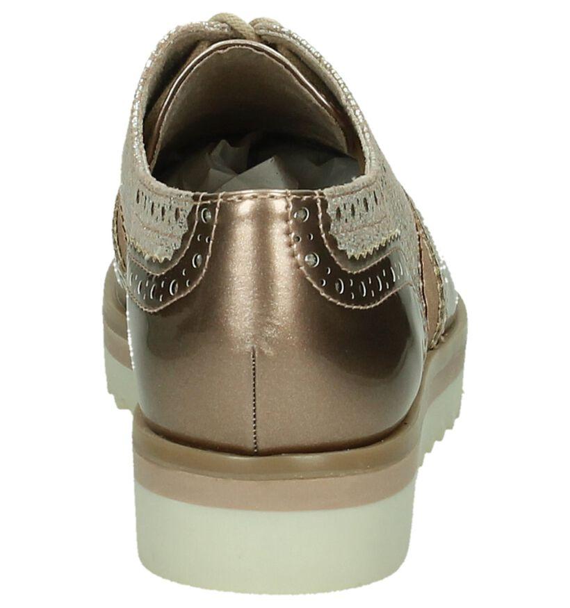 Marco Tozzi Chaussures à lacets en Rose clair en simili cuir (189725)