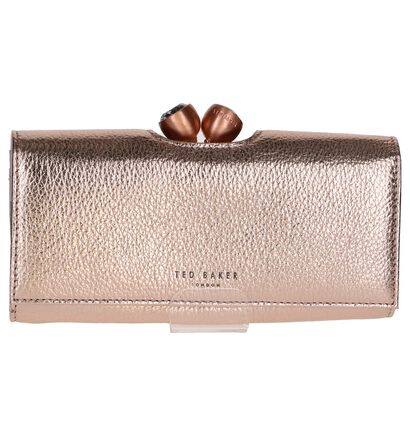 Ted Baker Muscovy Overslagportefeuille Rose Gold in leer (236391)