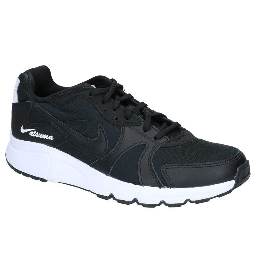 Nike Baskets basses en Noir en simili cuir (265925)