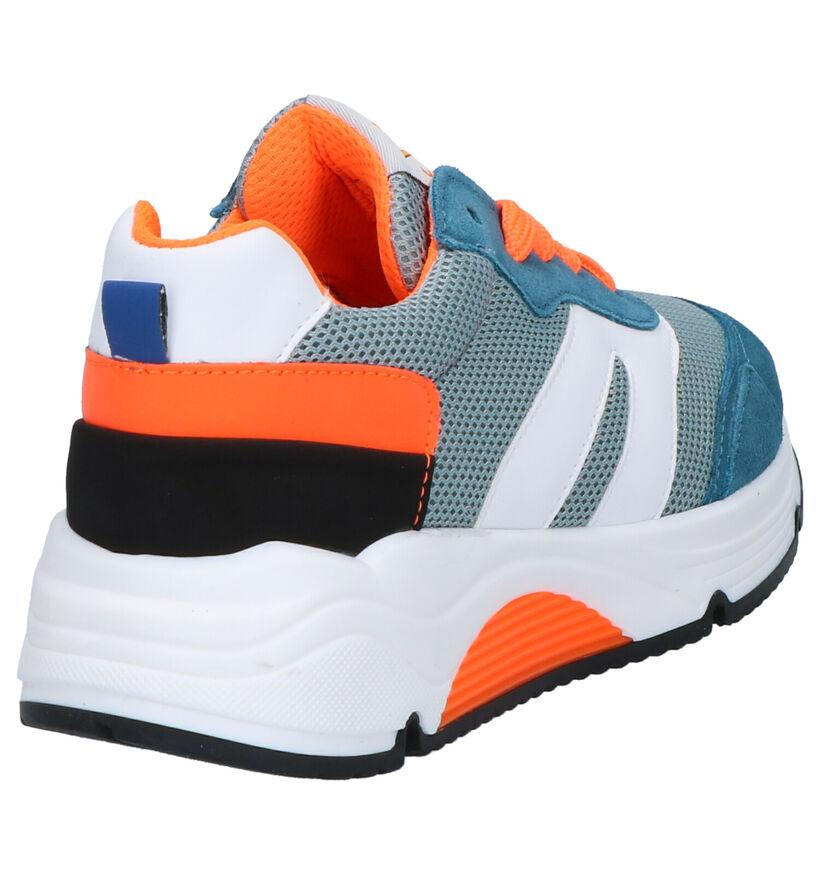 Little David Porto Sneakers en Bleu en daim (273311)