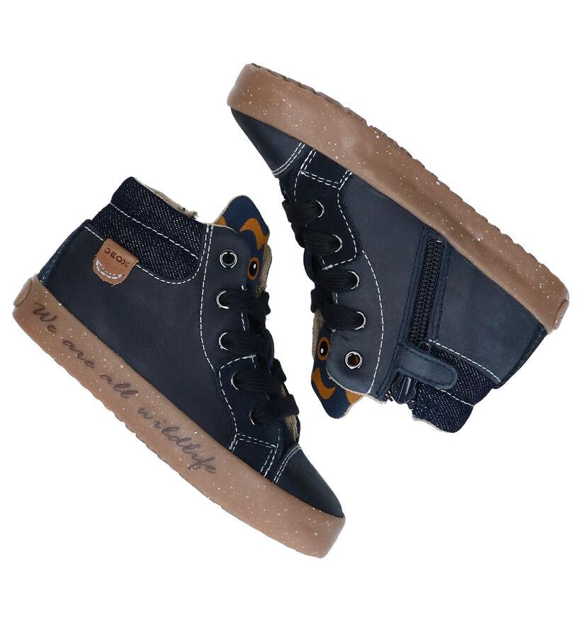 Geox Chaussures hautes en Bleu foncé en textile (284126)