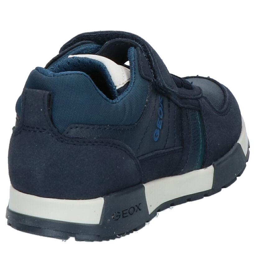 Geox Chaussures basses en Bleu foncé en simili cuir (273263)