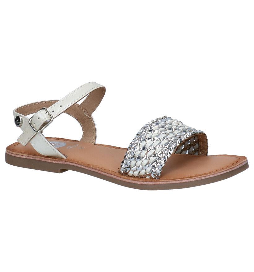 Gioseppo Beige/Zilveren Sandalen in leer (282210)