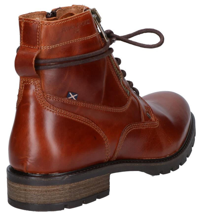 Scapa Cognac Boots in leer (259107)