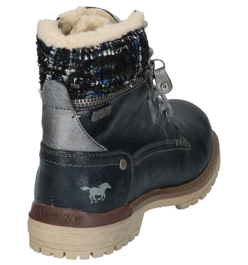 Mustang Blauwe Boots in kunstleer (255074)