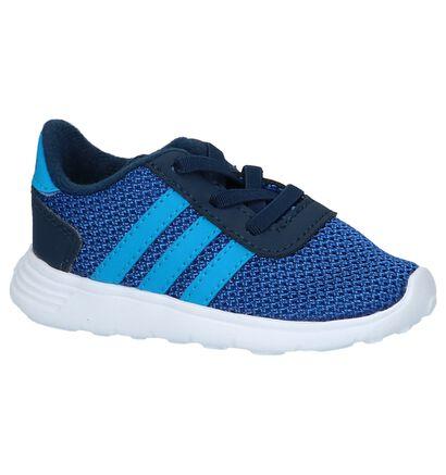 adidas Lite Racer INF Blauwe Sneakertjes in stof (208820)