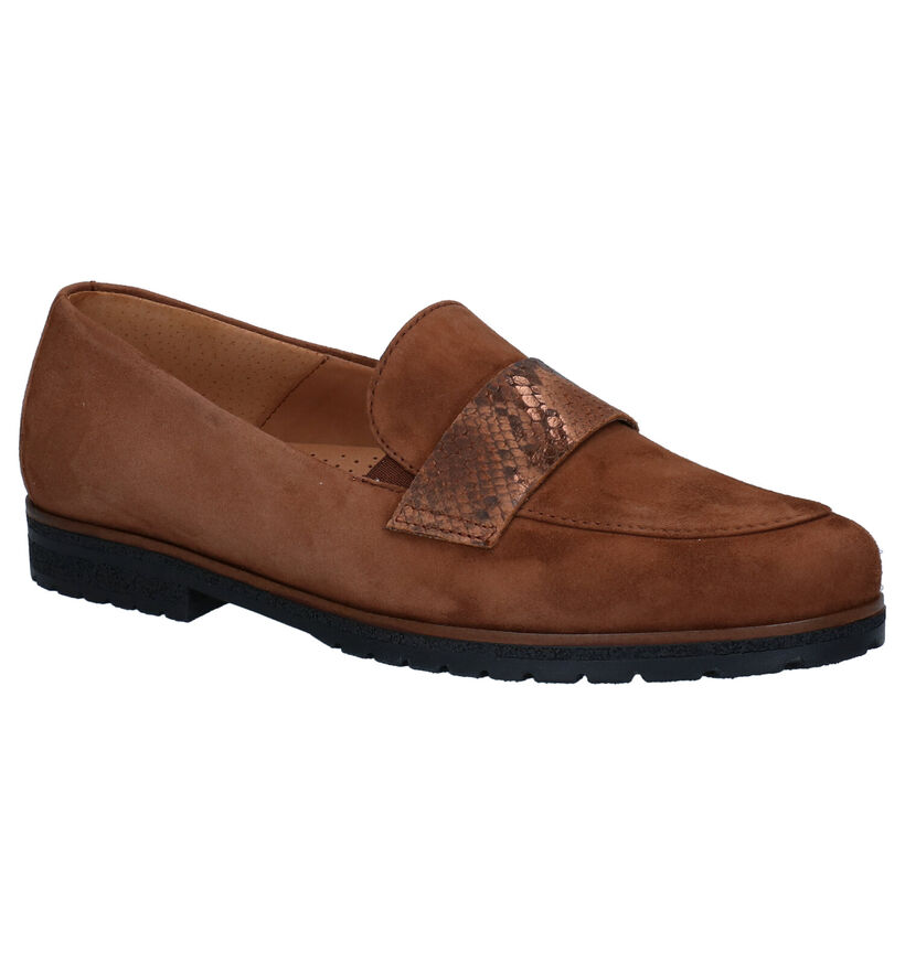 Gabor Easy Walking Blauwe Loafers in daim (283895)