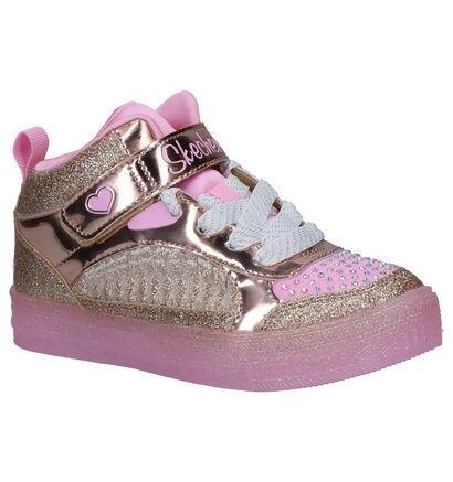 Skechers Twinkle Toes Sneakers Roze in stof (256140)