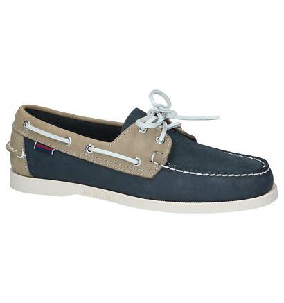 Blauw/Beige Bootschoenen Sebago Dockside, Blauw, pdp