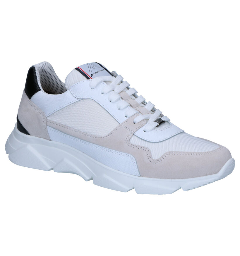 Ambitious Witte Sneakers in daim (265943)