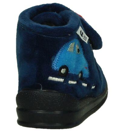 Donker Blauwe Babypantoffels Ani in stof (200977)