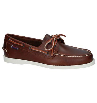 Sebago Chaussures bateau en Vert kaki en cuir (240430)