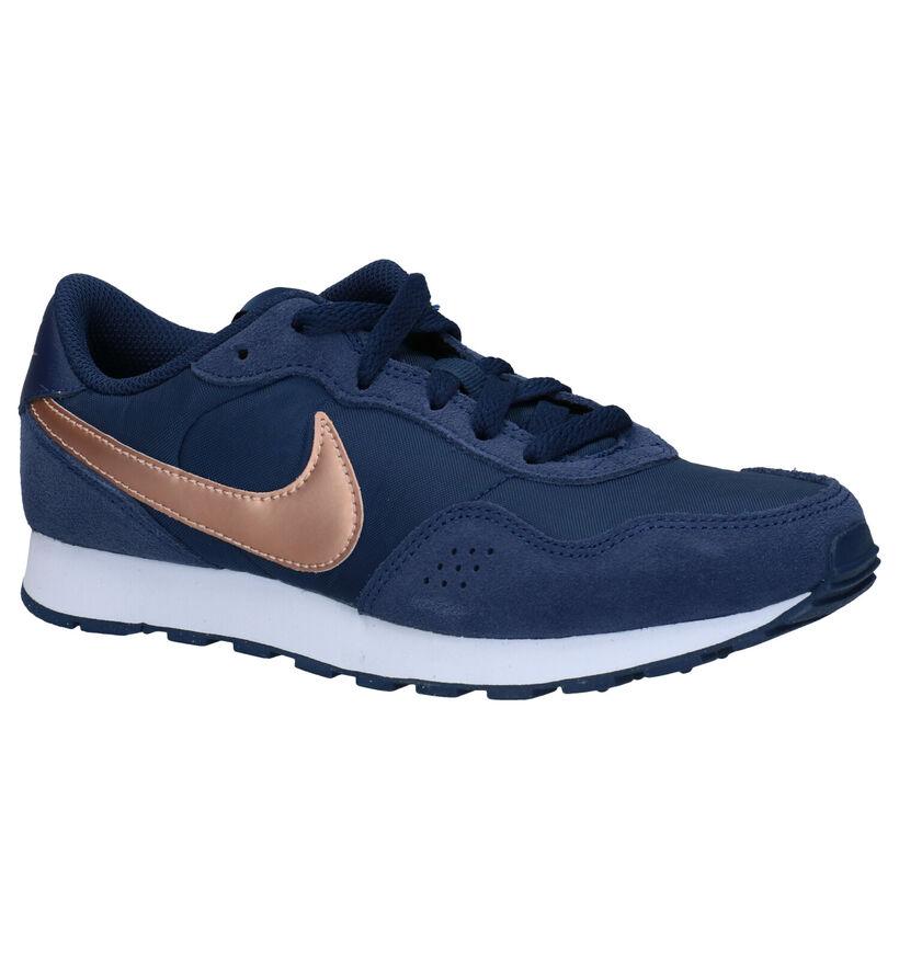 Nike MD Valiant GS Blauwe Sneakers in daim (277530)