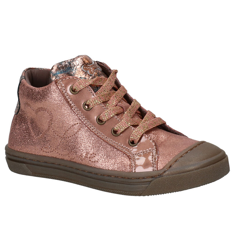 STONES and BONES Mills Bottines en Rose en cuir (279310)