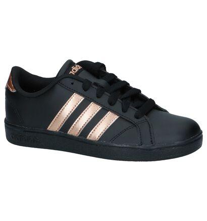 adidas Baskets basses en Noir en simili cuir (236993)