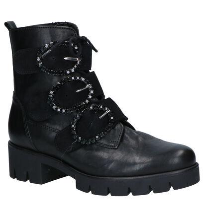 Gabor Zwarte Boots in leer (260114)
