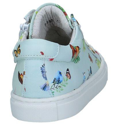 Muntgroene Milo & Mila Sneakers in leer (247282)