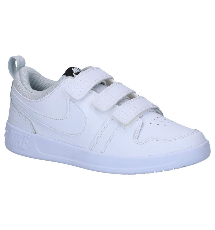 Nike Pico 5 Baskets en Blanc en cuir (253957)