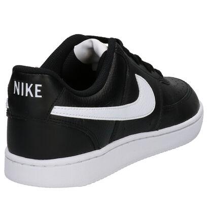 Nike Court Vision Zwarte Sneakers in kunstleer (261690)