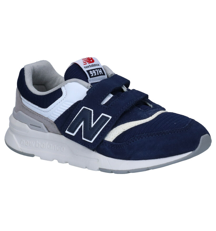 New Balance PZ 997 Blauwe Sneakers in daim (253367)