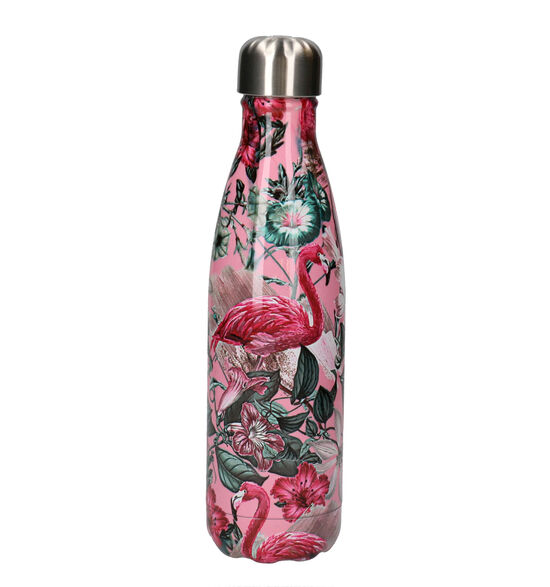 Chilly's Tropical Flamingo Gourde en Rose 500 ml