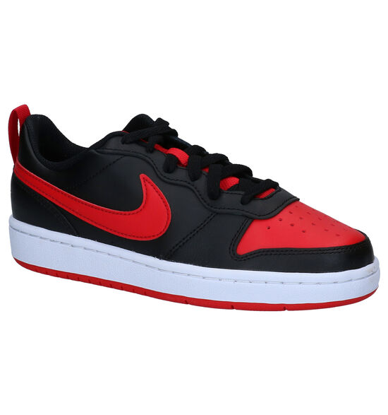 Nike Court Borough Low Rood/Zwarte Sneakers