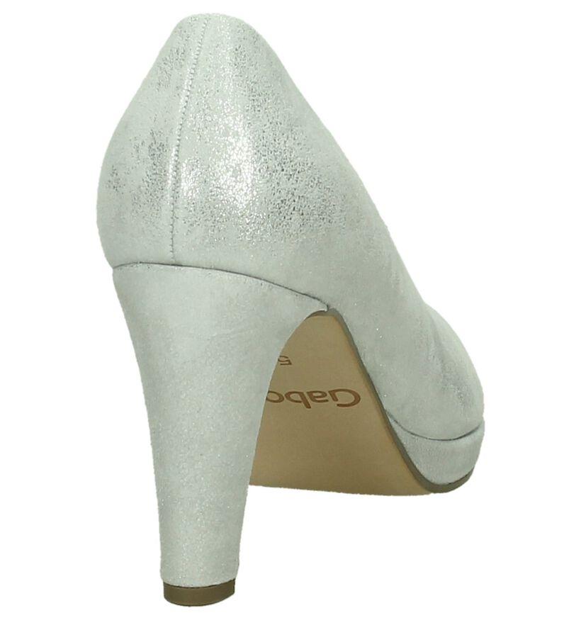 Gabor Escarpins classique en Argent en cuir (209039)