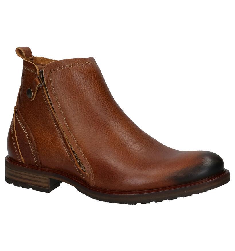 Bullboxer Chaussures hautes en Cognac en cuir (279120)
