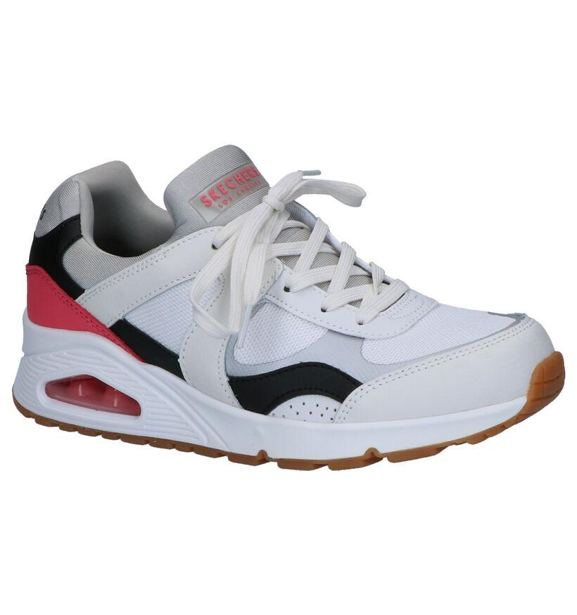 Skechers Uno Super Fresh Witte Sneakers in leer (262823)