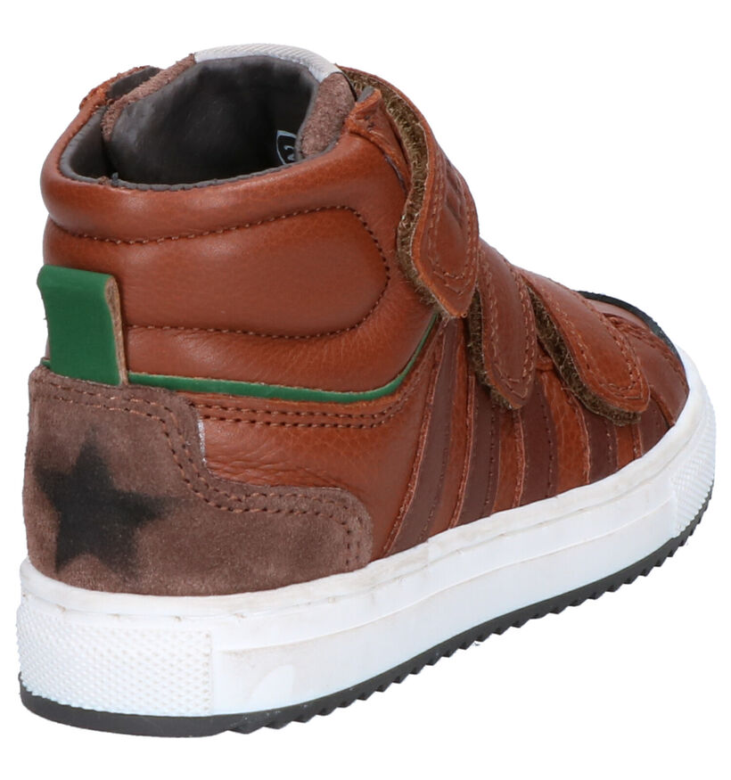 Little David Mario Cognac Hoge Schoenen in leer (261376)