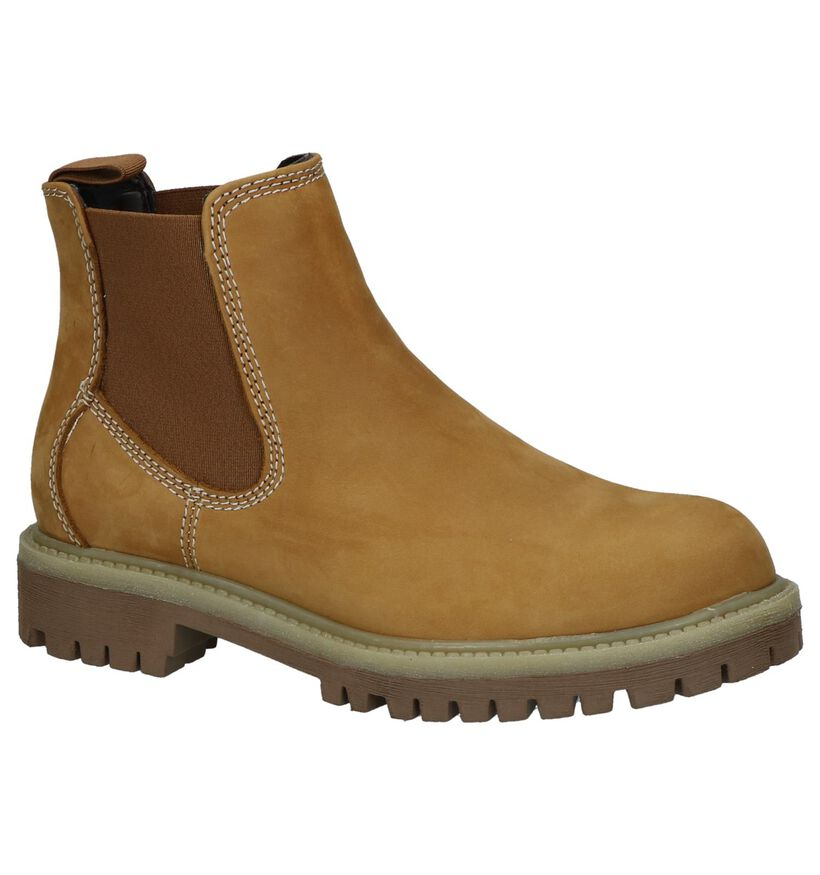 Milo & Mila Naturel Chelsea Boots in nubuck (232373)