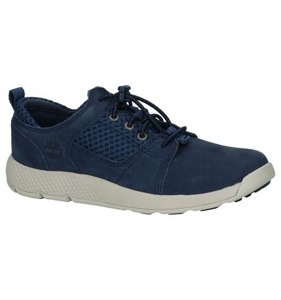 Timberland Flyroam Chaussures basses en Bleu foncé en cuir (212186)