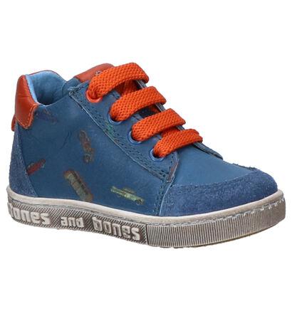 STONES and BONES Coop Blauwe Hoge Schoenen in daim (259879)