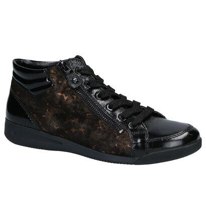 Ara High-Soft Zwarte Hoge Schoenen in lakleer (260851)