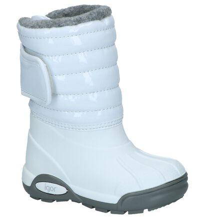 Witte Igor Snowboots met Velcro in lakleer (227110)