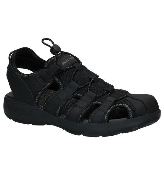 Skechers Melbo Journey Zwarte Sandalen