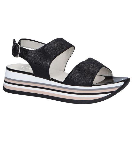 Zwarte Sandalen Tine's