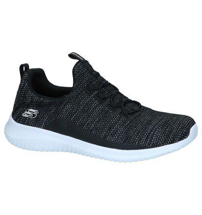 Zwarte Slip-on Sneakers Skechers Ultra Flex, Zwart, pdp