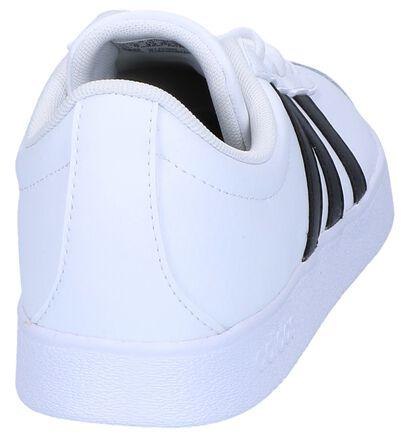 Witte adidas VL Court 2.0 Sneakers in imitatieleer (252485)
