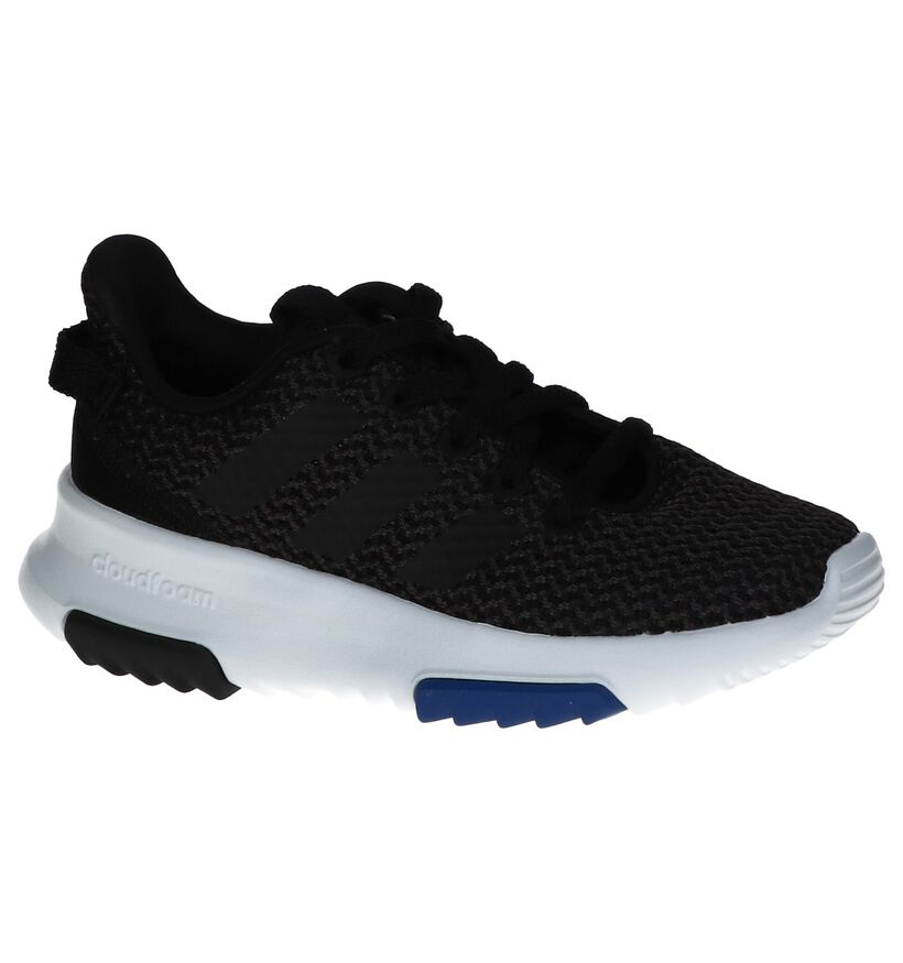 Zwarte Sneakers adidas CF Racer in stof (237014)