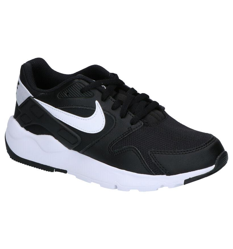Nike LD Victory Zwarte Sneakers in kunstleer (254064)