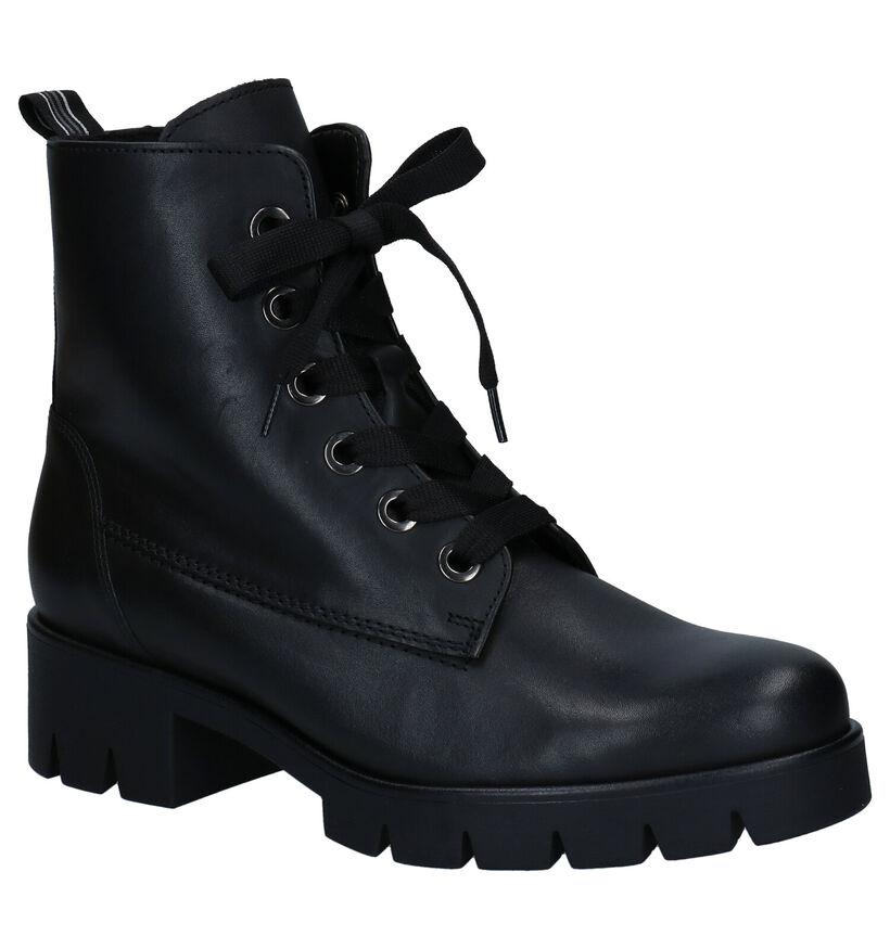 Gabor Best Fitting Zwarte Boots in leer (282398)